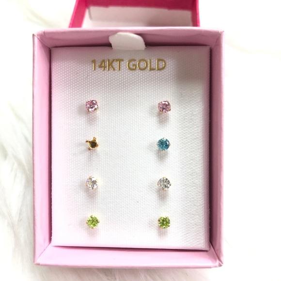 ab0aa840ca2d6 14K Gold Baby girl Earrings